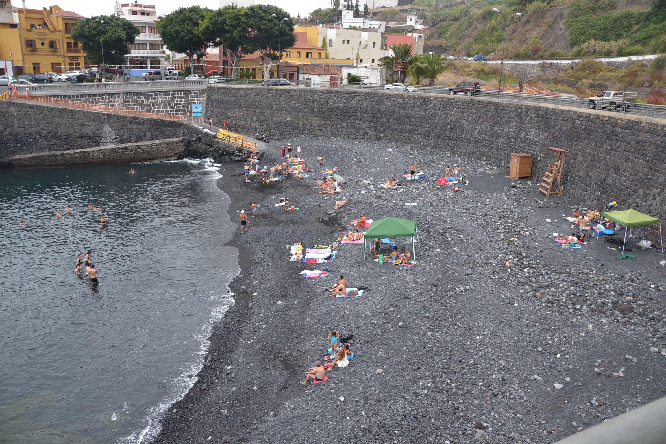 Así lucía la playa de El Muelle en el día de ayer, día de San Juan