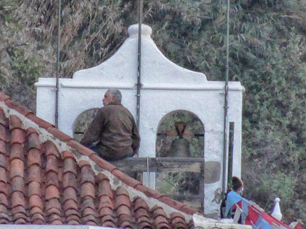 Ignacio Suárez repicando en Los Reyes. Foto: Andrés Lemus