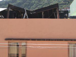Estado del inmueble la Quinta Roja tras el incendio.n