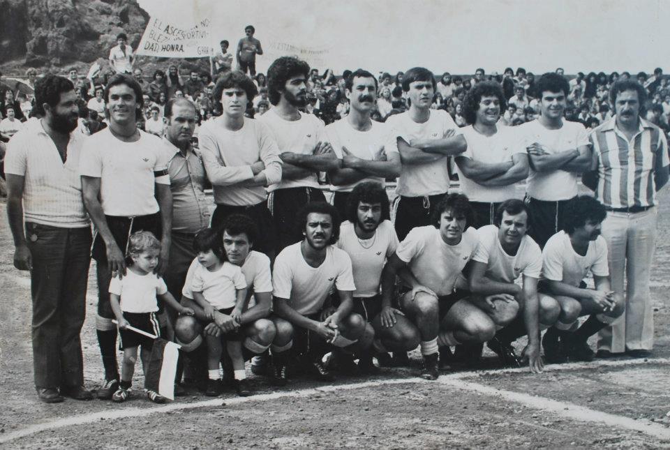 Poleo en el R.C.D. Gara (segundo por la derecha en la fila de abajo)