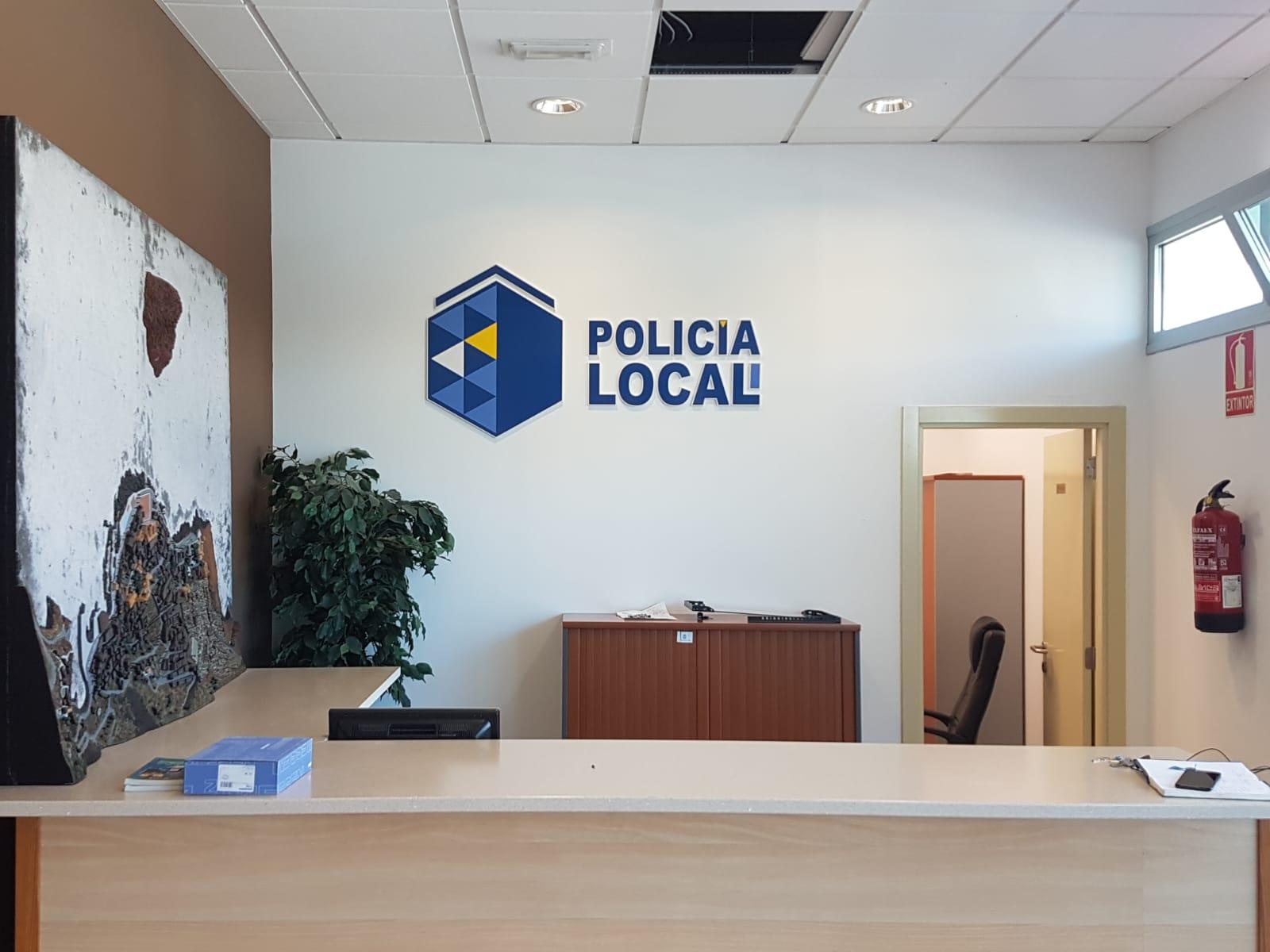 Dependencias de la Policía Local en La Caleta de Interián